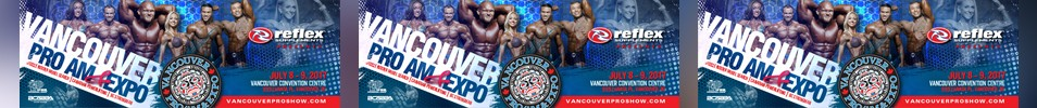 2017 IFBB Vancouver Pro Event banner
