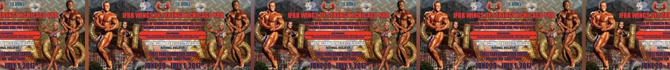 2017 IFBB Wings of Strength Chicago Pro Event banner