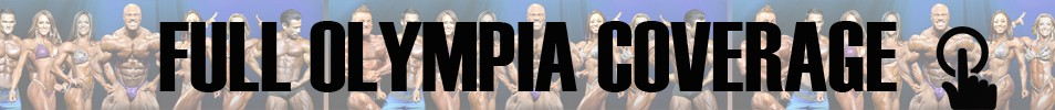2017 Olympia Fitness & Performance Weekend Event banner