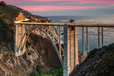 Bixby Bridge in Big Sur California.