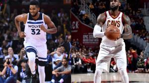 Karl-Anthony Towns, LeBron James of the Cleveland Cavaliers