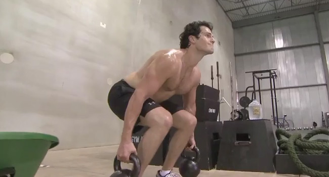 'Man of Steel' star Henry Cavill in the Gym