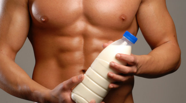 Man holding milk