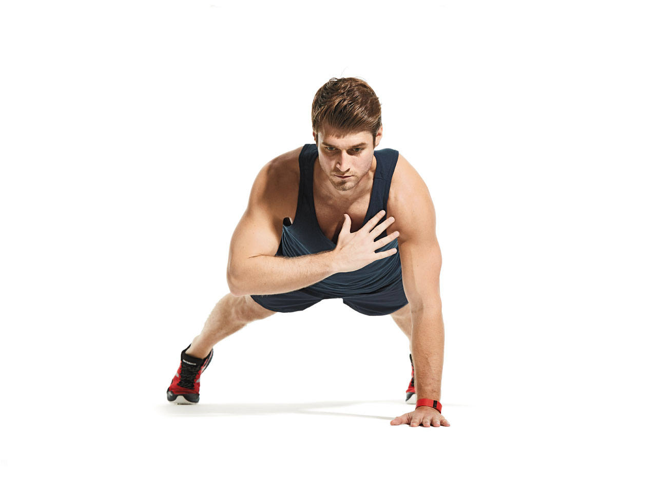 Image result for Shoulder tap  plank male