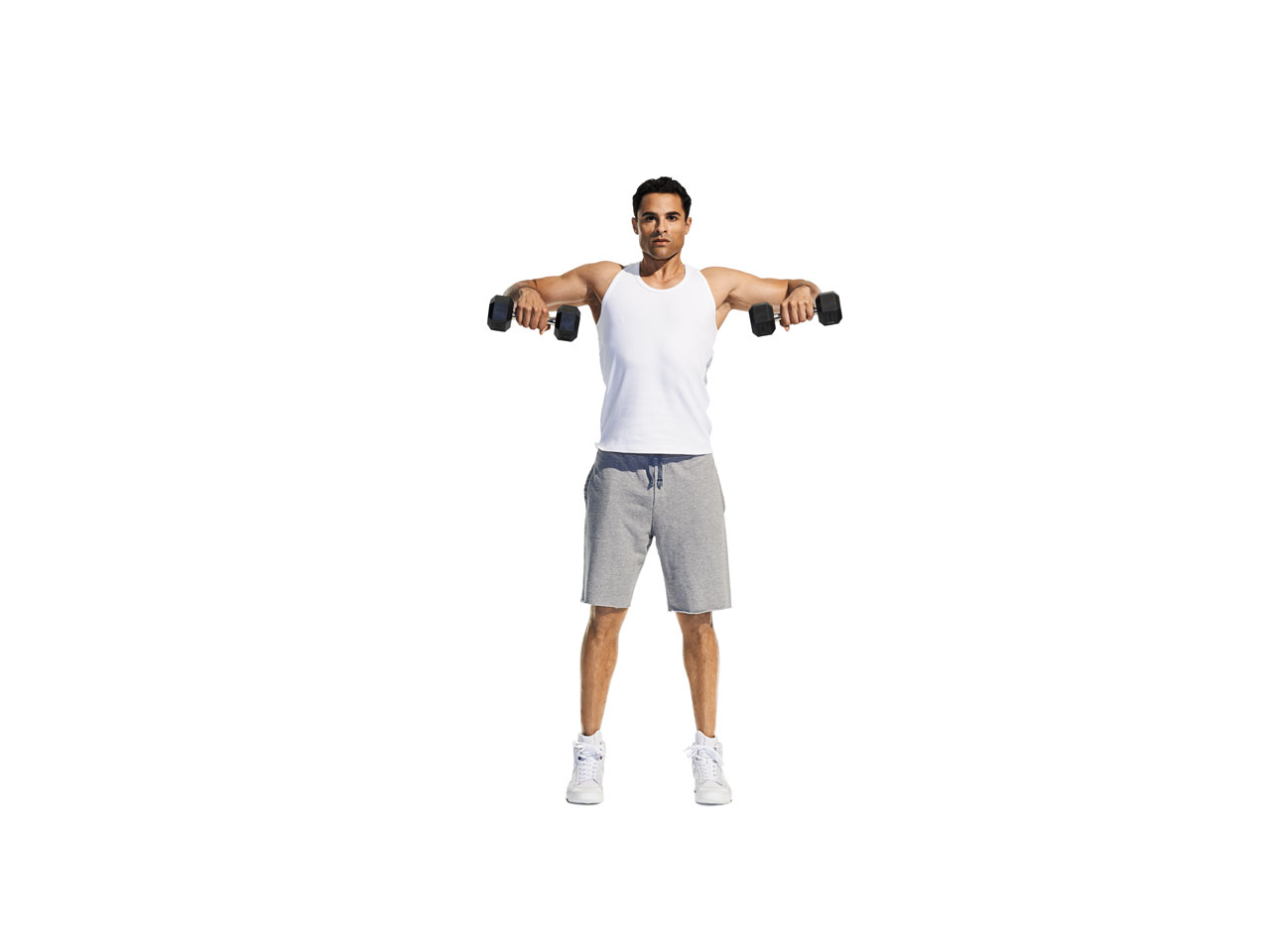 Complex exercises for arms and shoulders 45