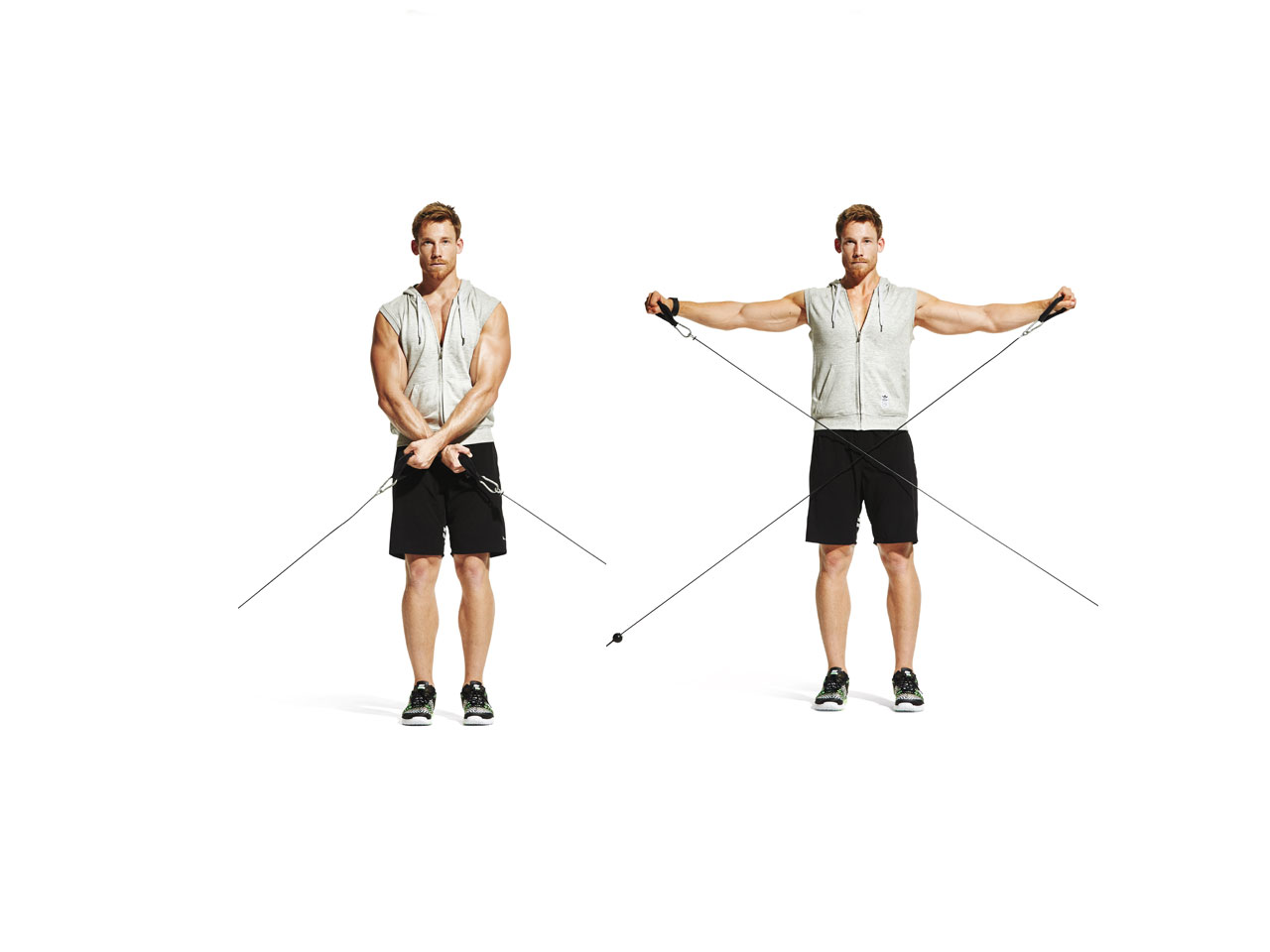 Cross Body Cable Raise Video Watch Proper Form Get Tips Amp More Muscle Amp Fitness