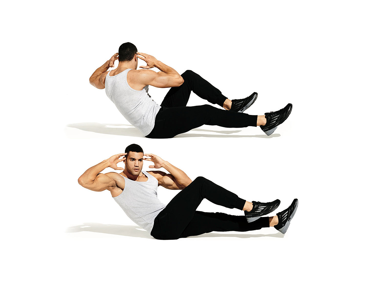 Image result for Bicycle Crunches""