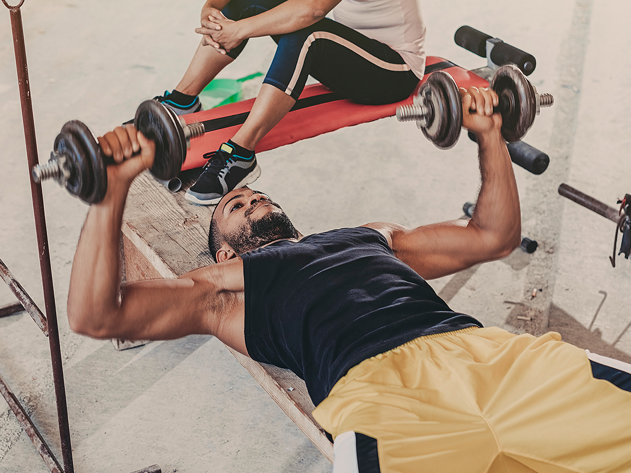 The deep chest workout muscle fitness