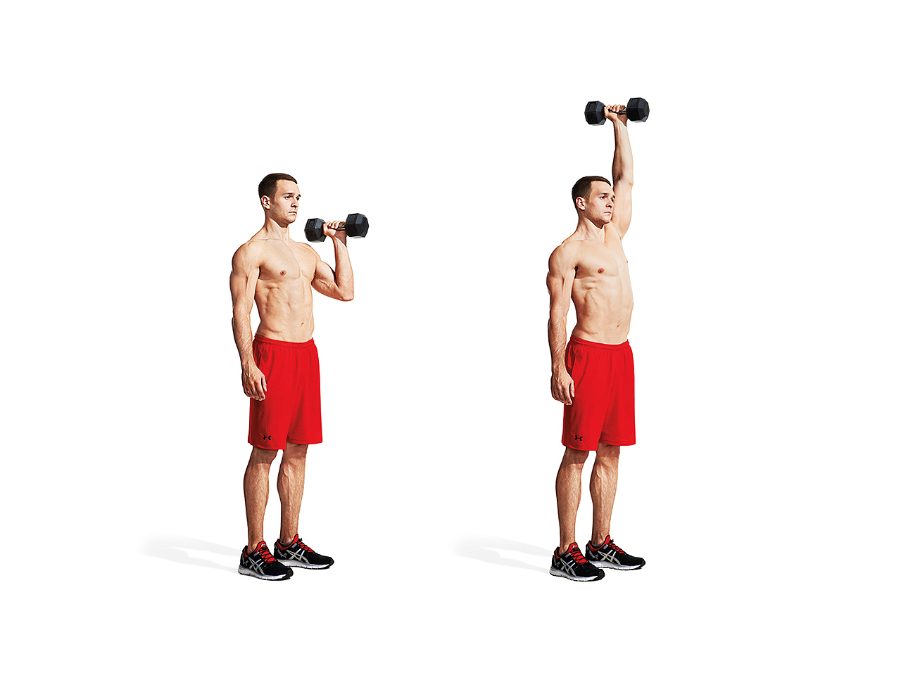 One-Arm Dumbbell Hang Clean and Press Video - Watch Proper ...