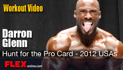 Darron Glenn's massive shoulder workout for the 2012 USAs