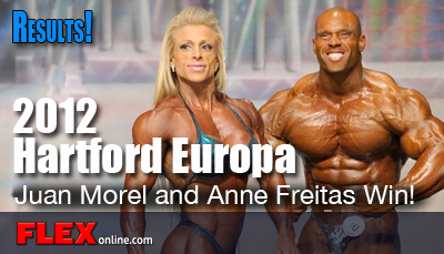 IFBB Pro Juan Morel and Anne Frietas Win Hartford Europa