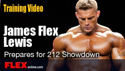 James Flex Lewis Prepares for the Olympia Weekend
