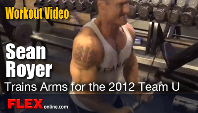 Sean Oyer Arm Workout Video