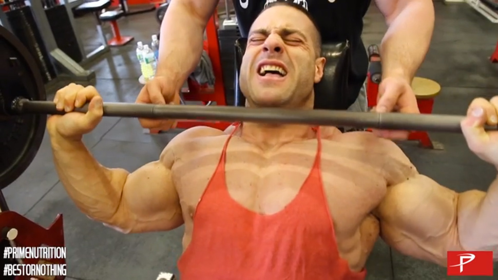 Evan Centopani Trains Arms, Shoulders and Calves Muscle