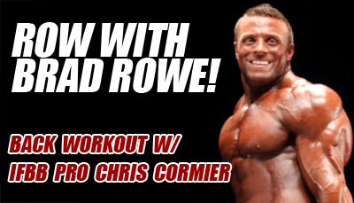 Back workout with Brad Rowe