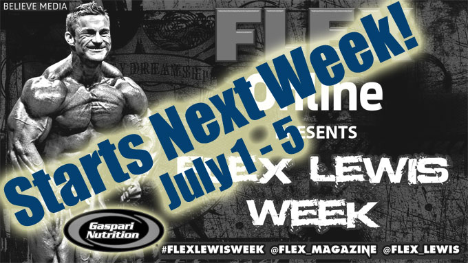 James Flex Lewis Week here on Flex Magazine