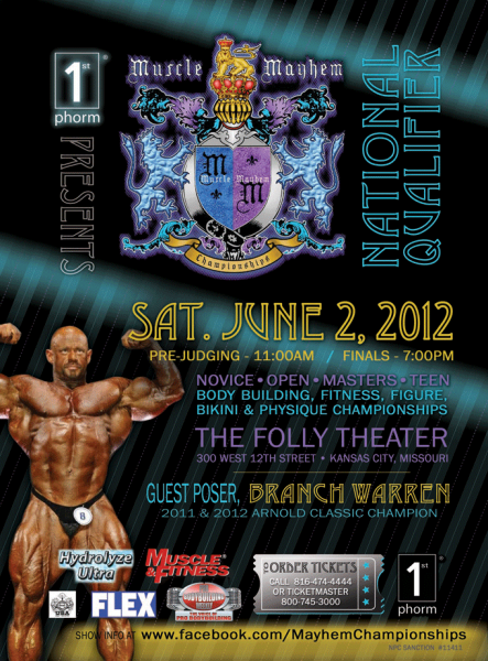 2012 Muscle Mayhem Bodybuilding, Figure and Bikini Championships