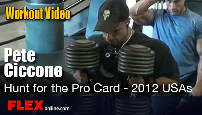 Pete Ciccone Rips through a chest workout training video