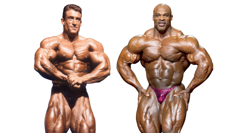 yates vs coleman posedown muscle fitness