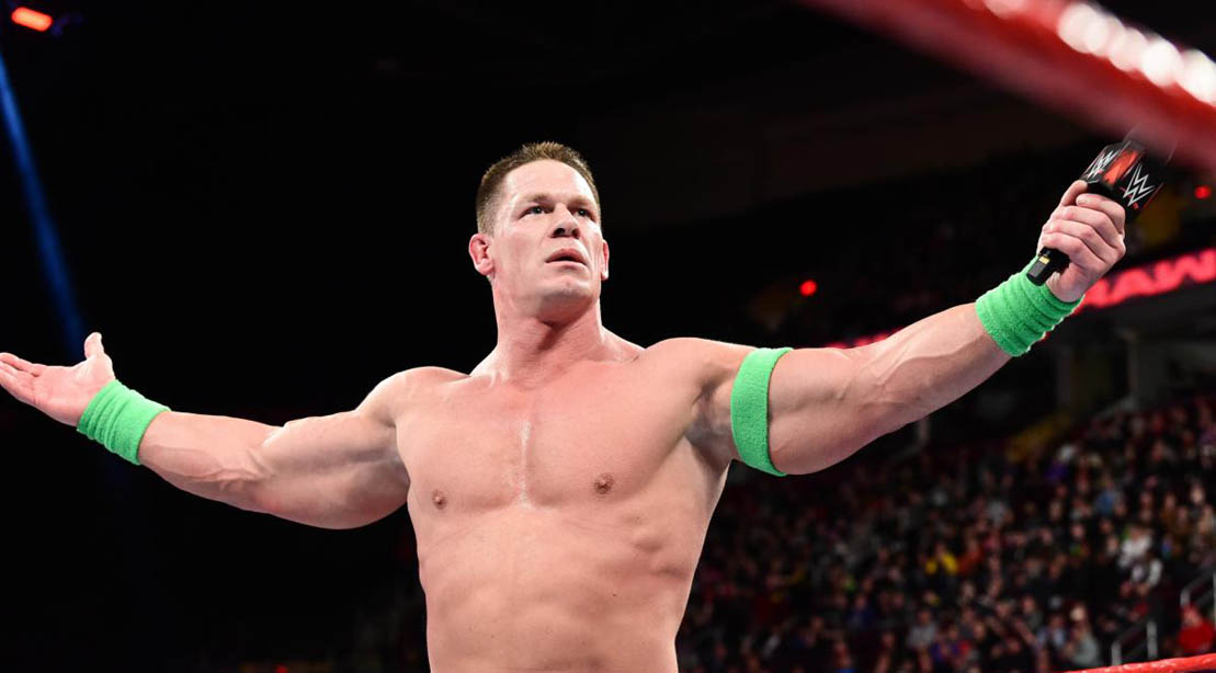 John Cena Taunts Undertaker on WWE Monday Night Raw | Muscle & Fitness