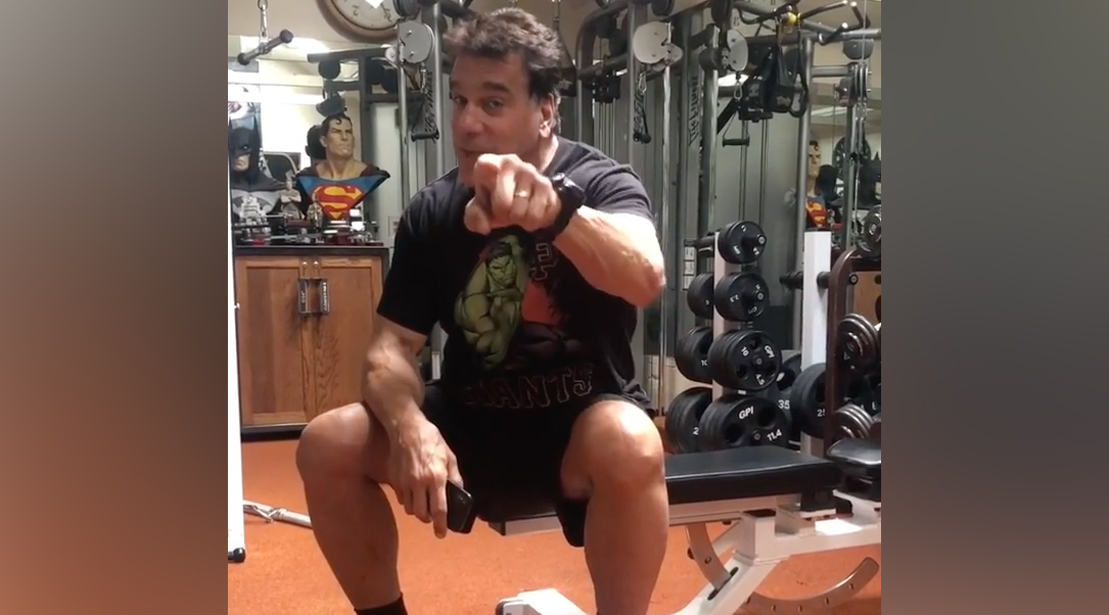 Lou Ferrigno Really Wants You to Get Off Your Damn Phone at the Gym