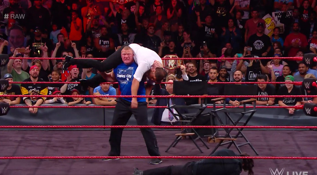 Watch: Brock Lesnar Loses His Mind on 'Raw,' Goes on ...