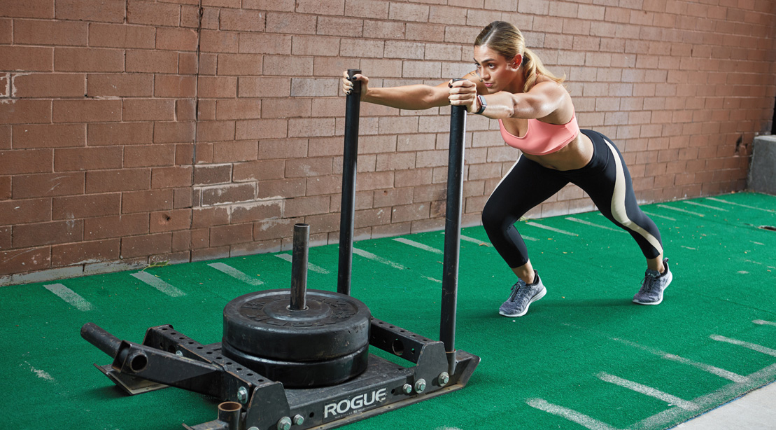 Image result for gym sled workout - the rock