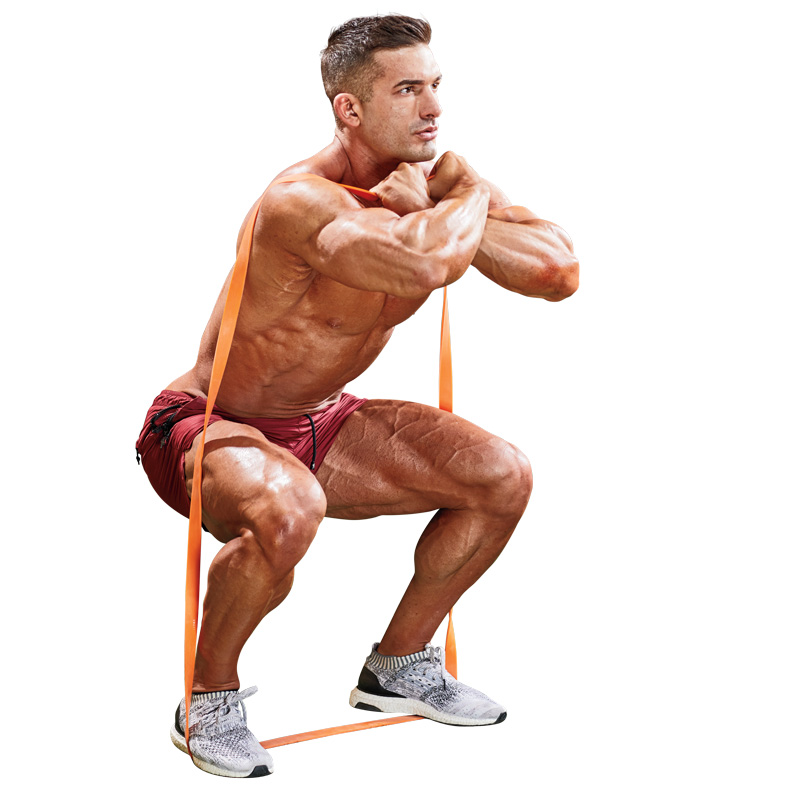 How To Do A Resistance-Band Front Squat