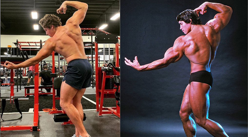 Arnold Schwarzenegger's Son Poses Like Dad
