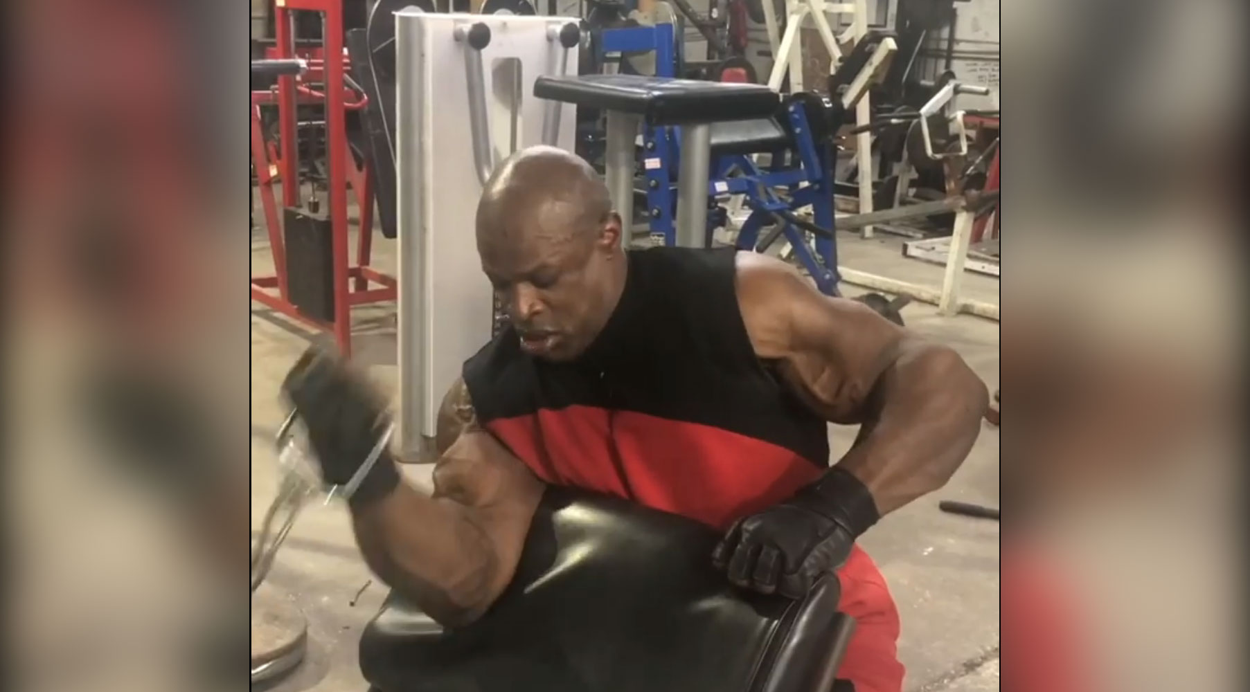 Watch: 8-Time Mr. Olympia Ronnie Coleman Blasts His Biceps