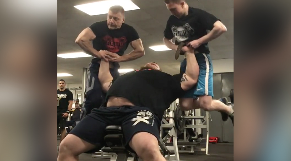 World S Strongest Man Athlete Eddie Hall Lifts Two People Muscle Amp Fitness