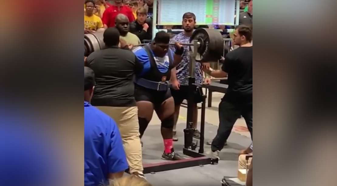 High School Powerlifter Crushes 830-pound Squat for a State Record