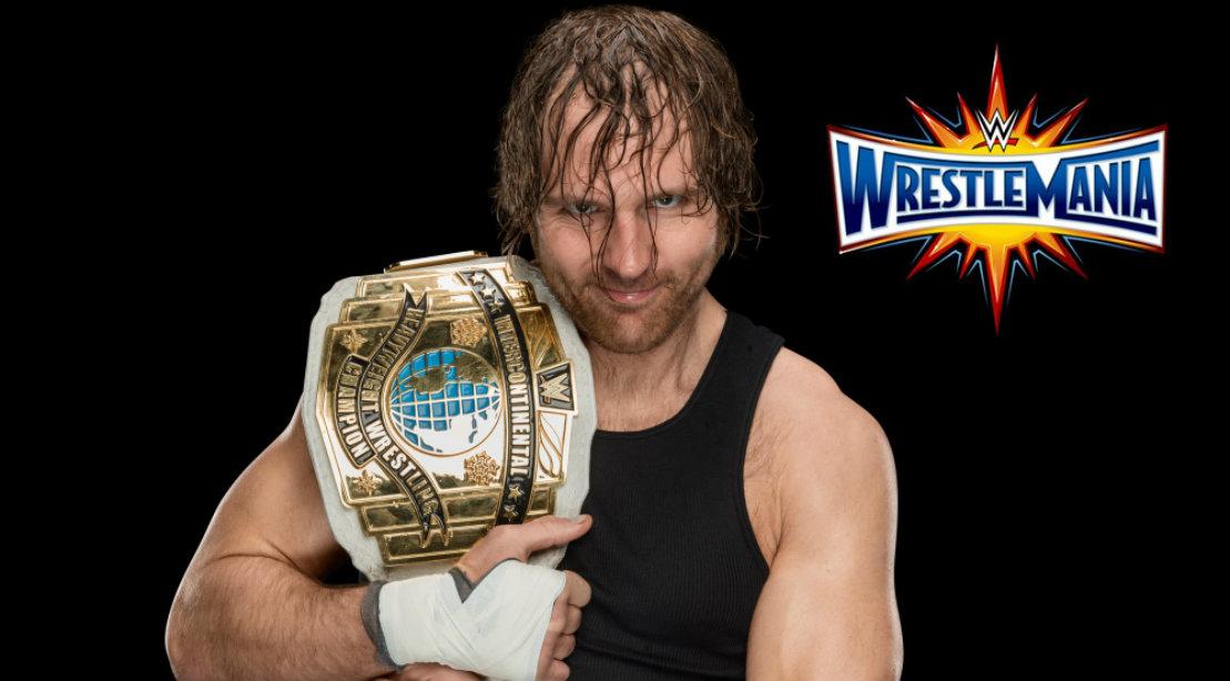 Dean Ambrose holding WWE championship belt