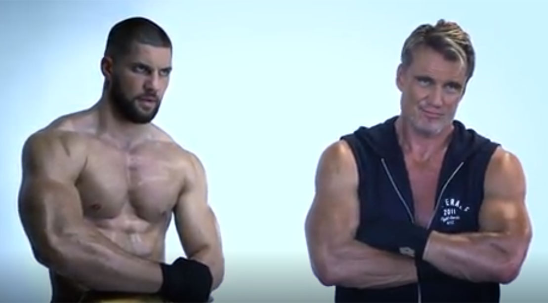Dolph Lundgren Bonds with His 'Creed 2' Son Florian ...