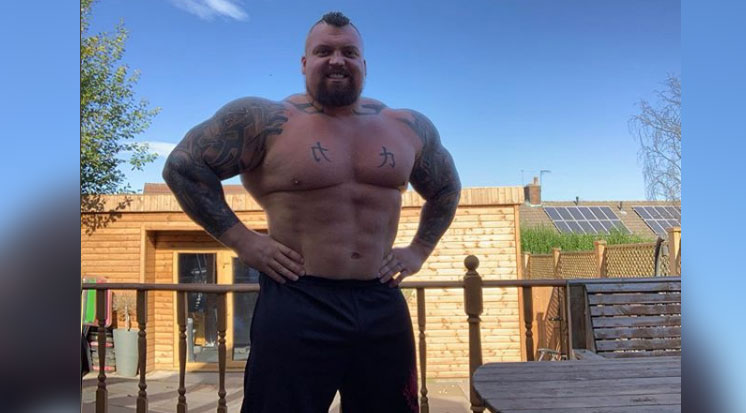 eddie hall is looking shredded after losing 60 pounds