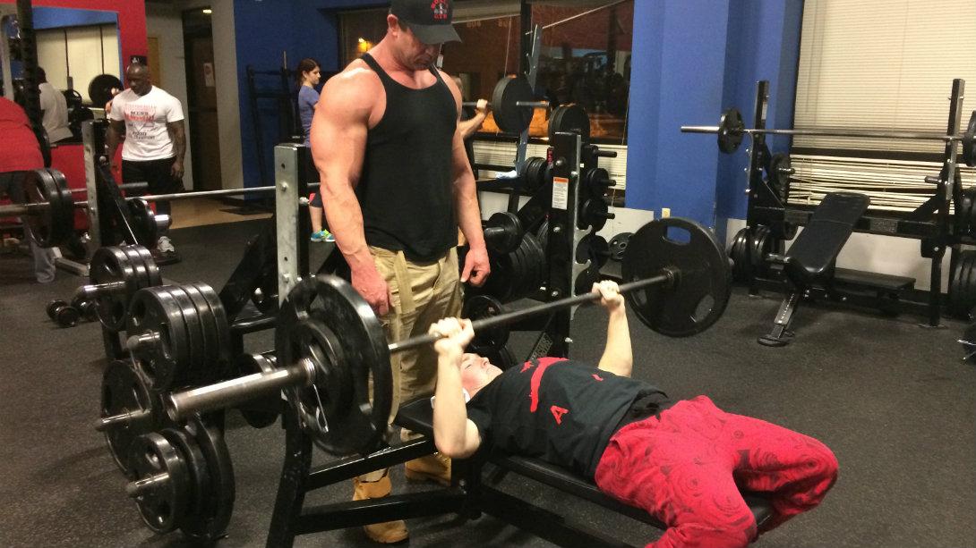 Jake bench press at gym