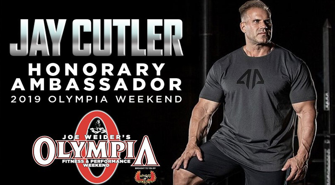 Bodybuilding Legend Jay Cutler Selected as 2019 Honorary Olympia Weekend Ambassador