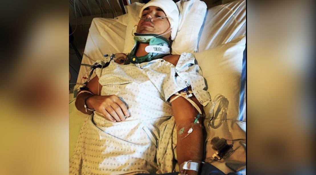 Matt Lockwood Lying In Hospital Bed
