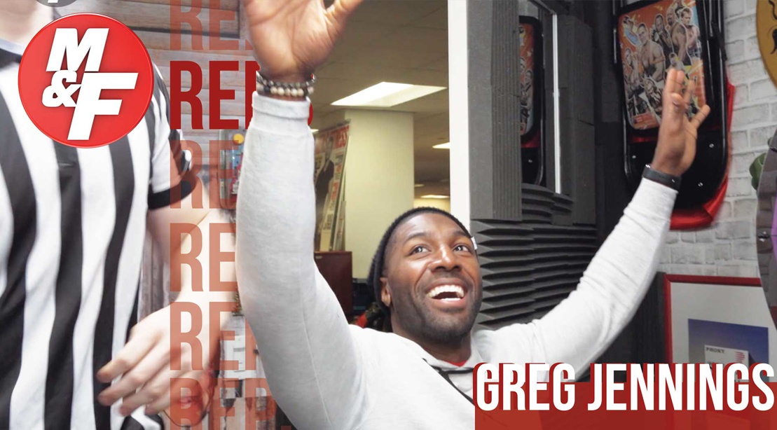 Former NFL Star Greg Jennings Plays Football With M&F Staff