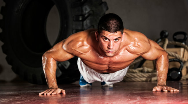 Jailhouse Strong Pushup Challenge | Muscle & Fitness