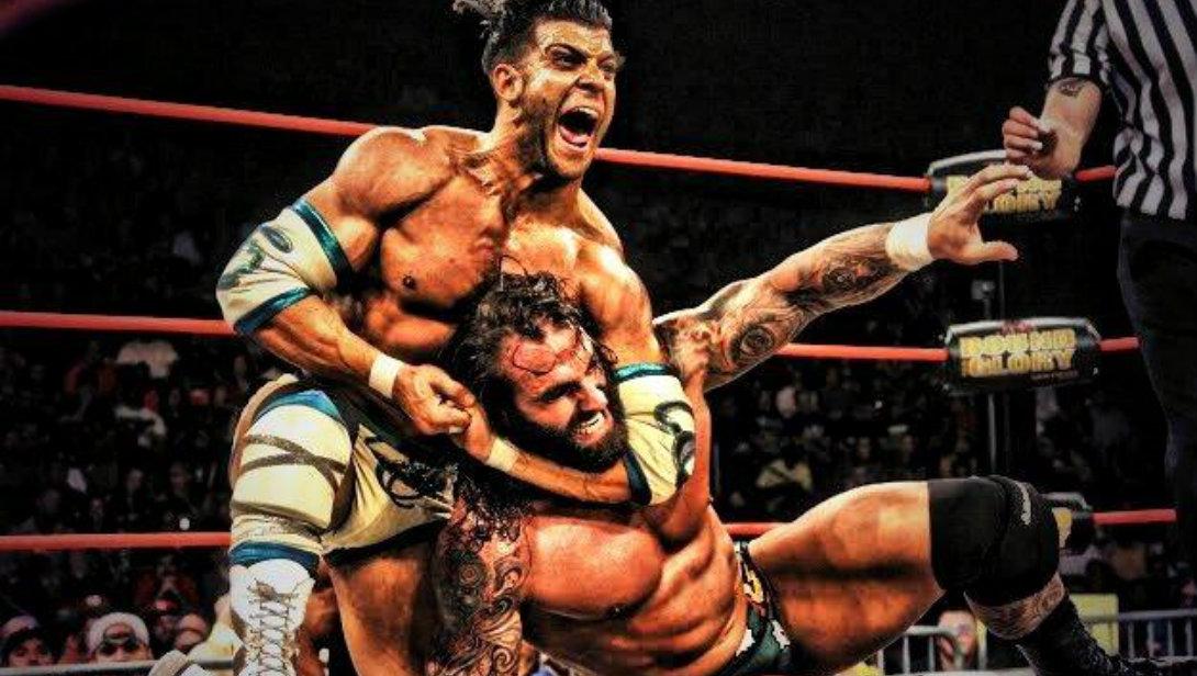 Robbie E wrestling match