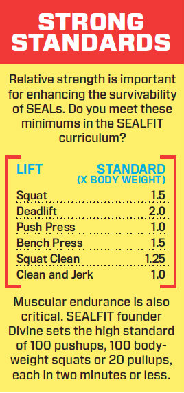 SEAL Team standards chart