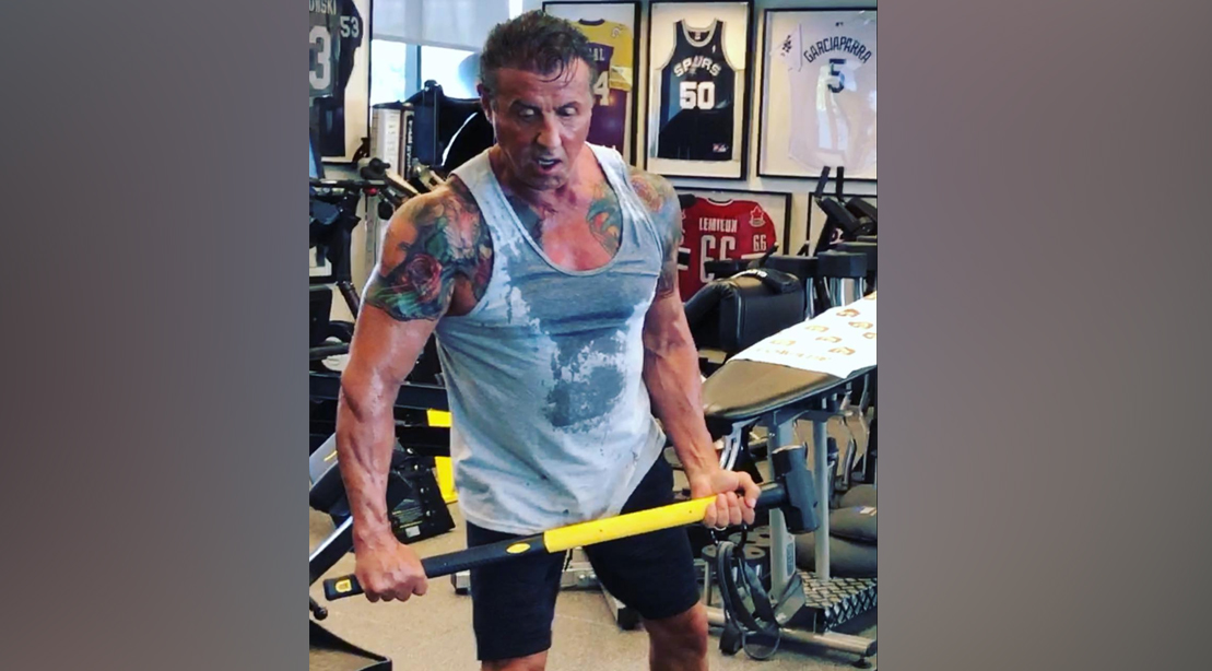 Sly Stallone's Physique Defies Age During Training for