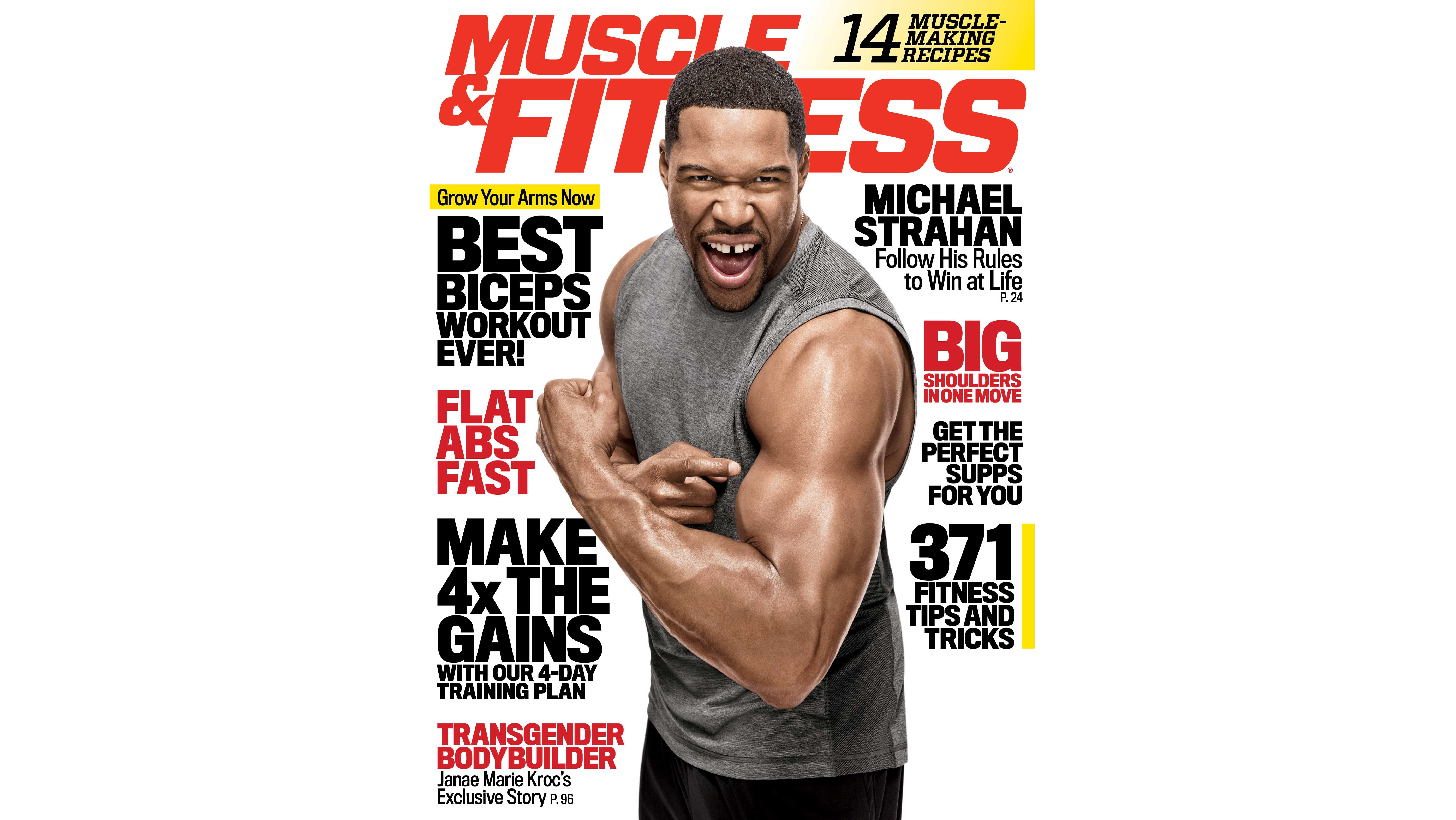 OCT 2015 MUSCLE & FITNESS vintage bodybuilding magazine - MICHAEL STRAHAN
