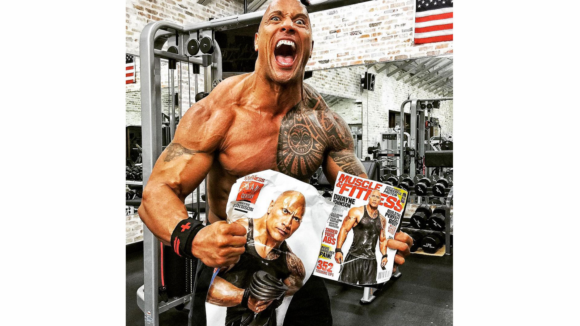 The Rock Launches '#ManoftheCentury' Challenge | Muscle ...