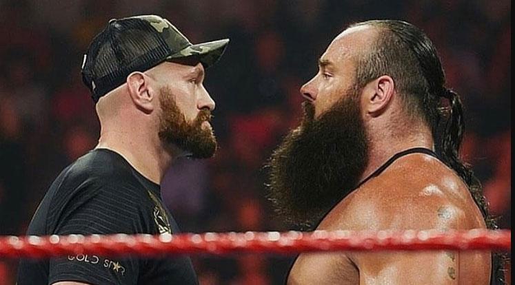 Tyson Fury and Braun Strowman Get into Insane Fight on WWE 'Raw'