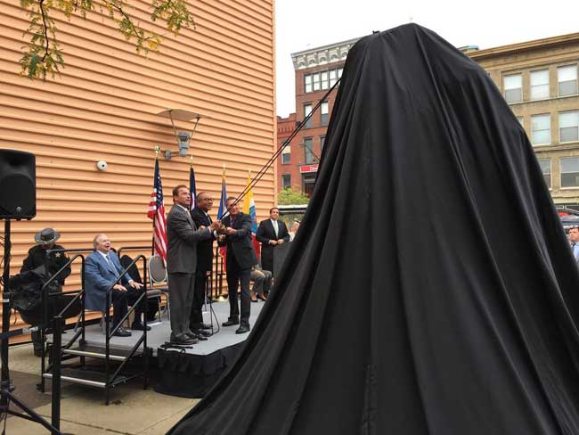 Arnold Statue Dedication Ceremony in Columbus