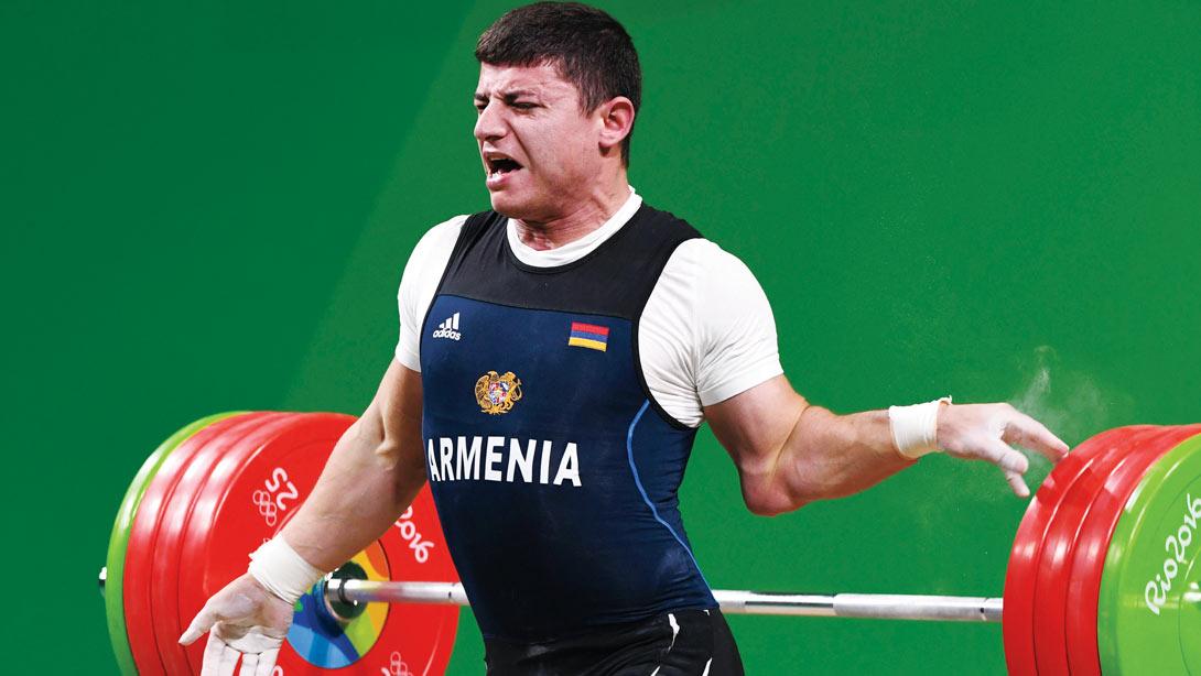 Armenian Olympic Weightlifter Andranik Karapetyan Dislocates Elbow