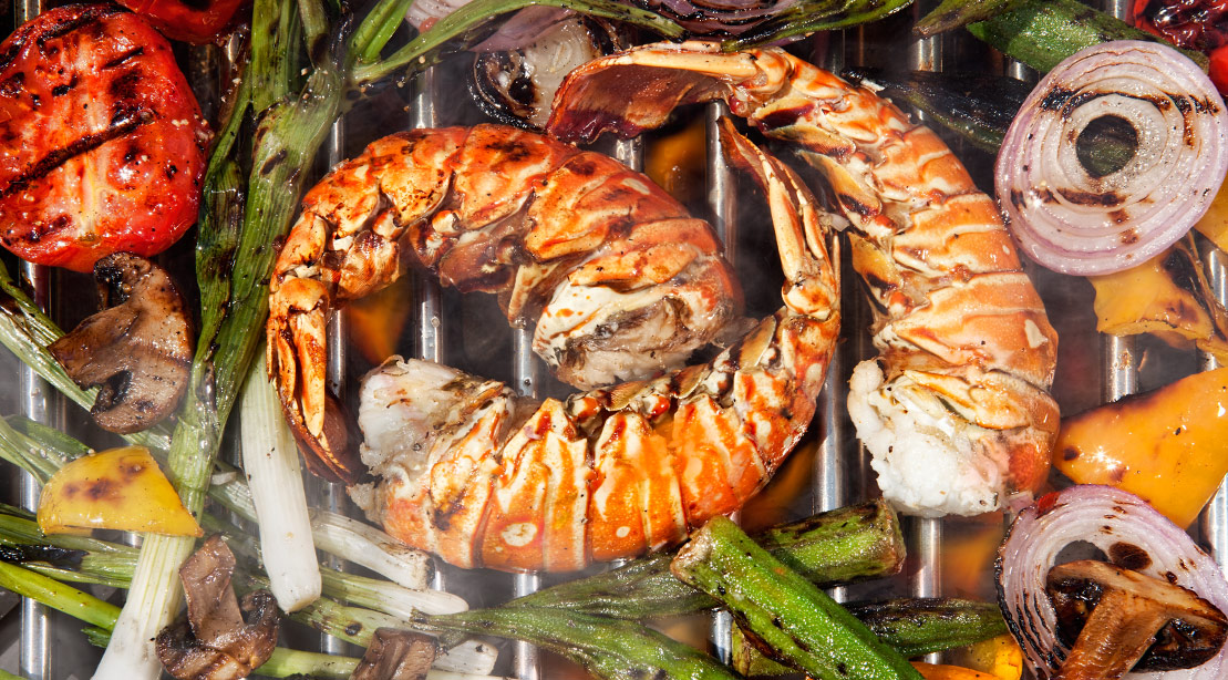 Grilled Lobster Salad Recipe with Chive-Yogurt Dressing