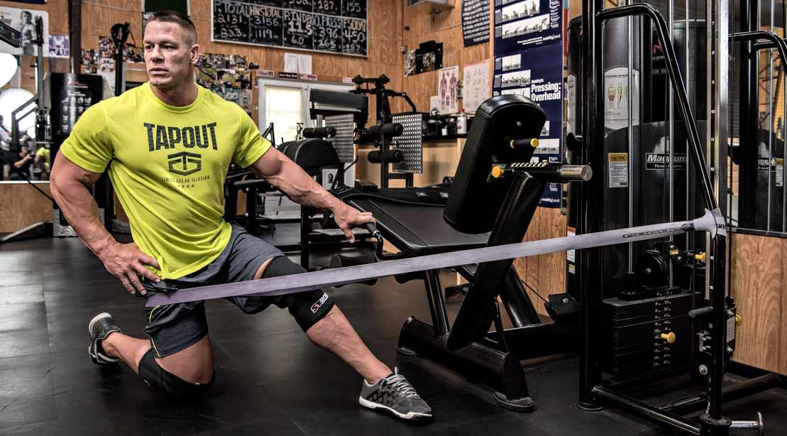 John Cena Stretching